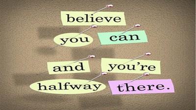 פוסטר באנגלית על אמונה בעצמך